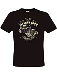 Ethno Designs - Vintage Iron - Hot Rod T-Shirt Old School Rockabilly Retro Style pour Hommes