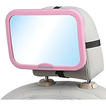 Kid Transit Espejo retrovisor de coche para bebé, diseño estable, varios colores, incluye ebook de recetas infantiles