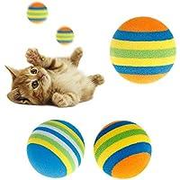 Mmnas - Juego de 10 pelotas de juguete para mascotas, de goma EVA, suave