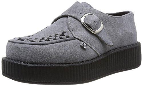 TUK - Viva Low Round Creepers, Sneaker Unisex – Adulto Grigio (Grigio)