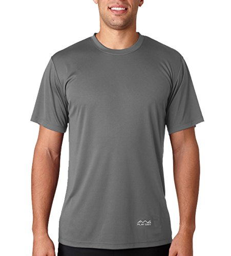 Scott International Men's Polyester T-Shirt (AWGDFT-DGR-L_Dark Grey)