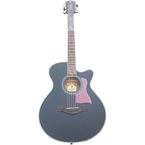 HONSING® 40 cadena pulgadas debajo de la superficie de astillado guitarra acústica / barril del árbol de abeto de nanyang de corea del sur las importaciones HS-4006-BK (Negro)