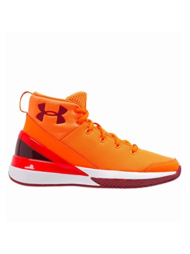 Under Armour Ua Bgs X Level Ninja - blaze orange, - Jungen-größe 7 Für Basketball-schuhe