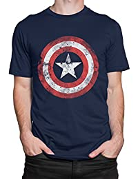 Marvel Avengers Mens Captain America Shield T-Shirt