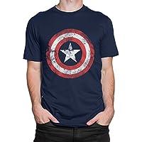 Capitan America - Maglietta a Maniche Corta per Uomo