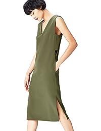 FIND Vestido Geométrico con Aberturas Laterales para Mujer
