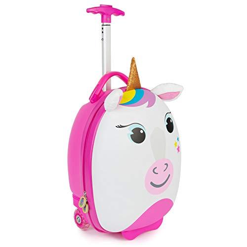 Boppi Tiny Trekker Leichter Kinderreisetrolley zum Ziehen mit Rädern in Handgepäckgröße (17 Liter Fassungsvermögen) - Einhorn