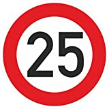 Geburtstagschild 25 Verkehrszeichen Verkehrsschild Straßenschild Geburtstagsschild Schild Geburtstag PVC 40 cm