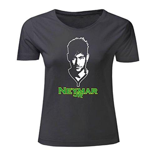 Art T-shirt, Maglietta Neymar Jr, Donna Nero