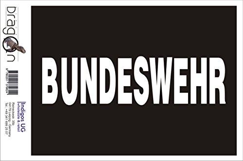 INDIGOS UG Aufkleber Autoaufkleber - JDM Die Cut Auto OEM - Bundeswehr in grau - 150x40 mm schwarz - Auto Laptop Tuning Sticker Heckscheibe LKW Boot