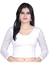 7e55fa0256646 Amazon.in  Whites - Blouses   Ethnic Wear  Clothing   Accessories