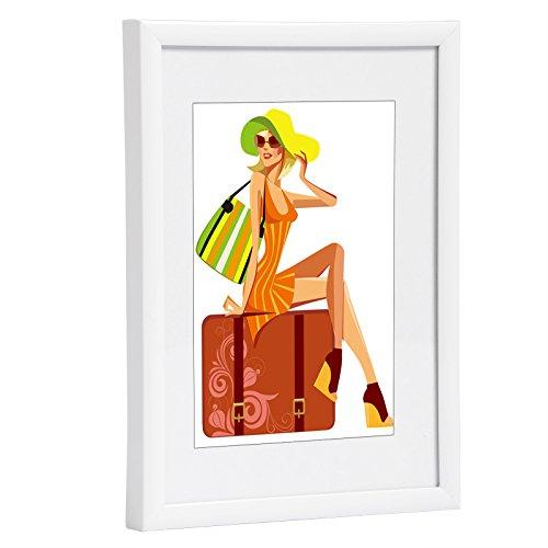 WOLTU #315 Bilderrahmen Bildergalerie Fotogalerie, Foto Collage Galerie, Kunststoff und Echtglas, New Life Style, Weiss, 30x40 cm