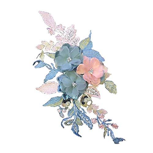 Cdrox Handgemachte Blumen DIY gestickte Kleidung Aufnäher Applikation Craft Kostüm-Gewebe-Paste Zubehör -