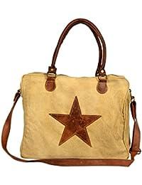 Priti Luxury Multi Design Washed Canvas Hand Paint Travel Handbag Office Handbag Cross Body Bag Messenger Cross...