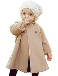 Xinantime_Bebe Abrigos Bebé, Xinan Otoño Invierno Niñas Niños Bebé Outwear Chaqueta de botón de capa Ropa de abrigo cálido 6 Mes - 5 Años