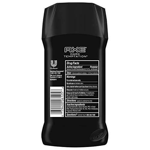 Axe Dry, Dark Temptation, Invisible Solid Anti-Perspirant & Deodorant, 75 g (Pack of 6)