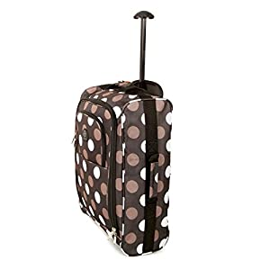 Lightweight Backpack Cabin Hand Luggage Suitcase Wheeled Trolley Travel Bag Case (Spots)