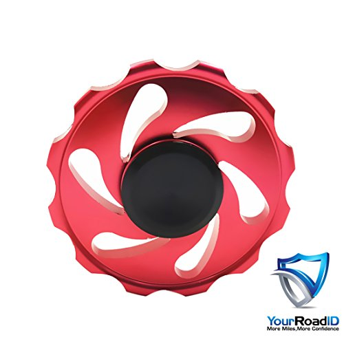 Your road id Wheel fidget spinner (metal spinner) red