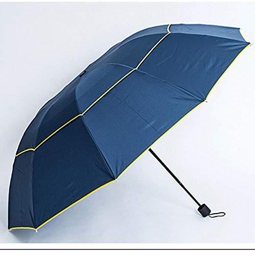 WENSISTAR Transparenter Regenschirm ,Doppelter wetterfester Regenschirm, UV-Schutzschirm, Faltbarer exquisiter Regenschirm @ Blue,Fiberglas Golf Stockschirm -