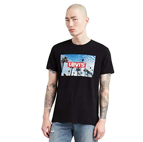 Levi´s ® Herren T-Shirt Rundhals Graphic Logo PHOTO2 Mineral Black XS -