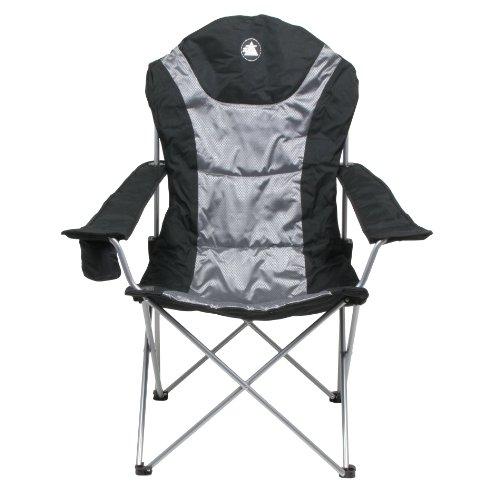 10T Lightboy - Faltbarer XXL Camping-Stuhl mobiler Hochlehner Maxi Polster-Sitzfläche Getränkehalter - 3