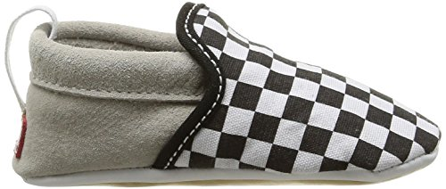 Vans I SLIP-ON CRIB Unisex Baby Krabbelschuhe Weiß (black/true White/checkerboard)