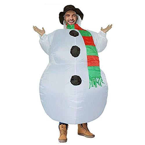 Christmas adulto bambini pupazzo di neve gonfiabile, costume, festa di natale decorazioni natalizie, unisex travestimento da soffiare vacanza costume adulti