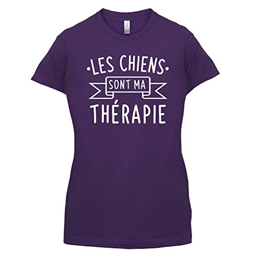 Les chiens est ma thérapie - Femme T-Shirt - 14 couleur Violet