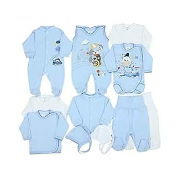 11 tlg set baby erstausstattung bekleidung strampler wickelshirts schlafanzug wickelbodys. Black Bedroom Furniture Sets. Home Design Ideas
