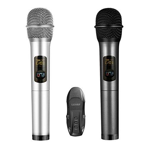 Micrófono Inalámbrico, LESHP Profesional Equipo de Karaoke Bluetooth