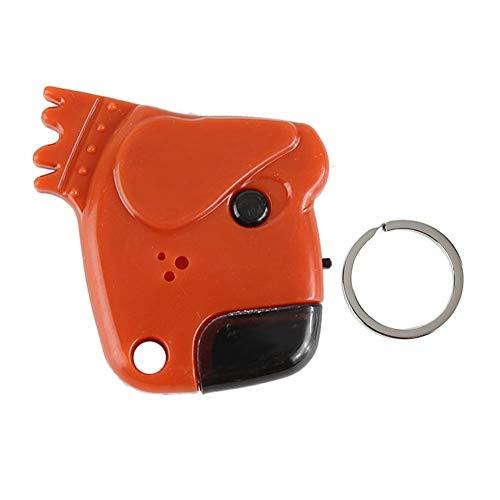 Key Finder Locator Cartoon Hund Anti-Lost Multi-Colored Key Finder Locator Schlüsselbund mit LED Whistle Control für Kind Elder Pet Car Positionierung Suche nach Notruf(Orange)