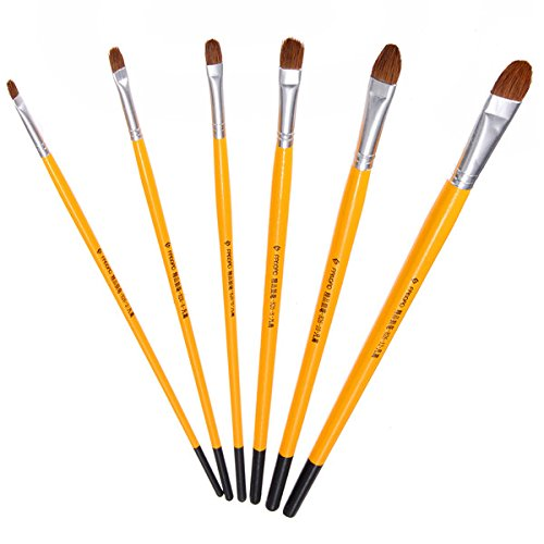 6pcs-set-oil-paint-brush-watercolour-gouache-artist-aluminium-ferrules-art-craft