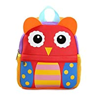 Minetom 2-6 Years Old Waterproof School Bag Backpack Kids Baby Girls Boys Children Shoulders Bagrucksack Lovely Cute Animals Daypack