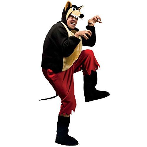 Widmann - Erwachsenenkostüm Wolf (Kostüm Wolf-schwanz, Halloween)