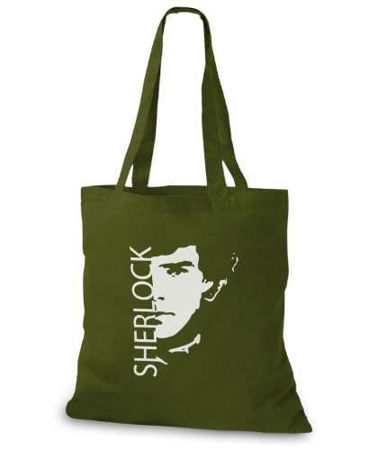 StyloBags Jutebeutel / Tasche Sherlock Khaki