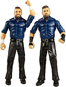Mattel- WWE-Pack de 2 Figuras de acción Luchadores Sunil Singh & Samir Singh GBN57