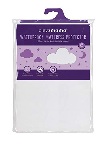 Clevamama ClevaBed 7215 Protector de Colchón Impermeable y Transpirable, 140 x 70 cm