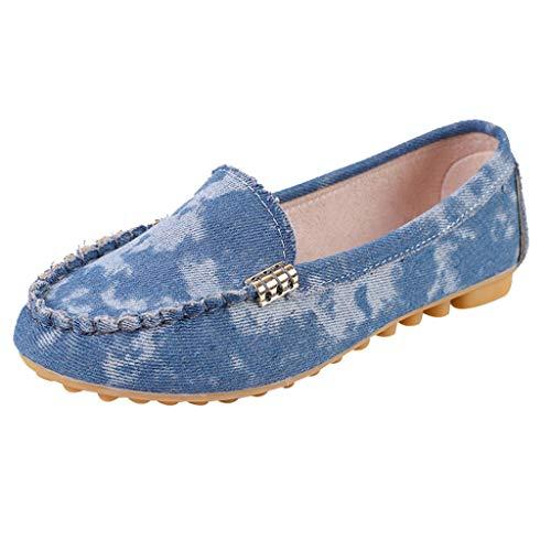 Freizeitschuhe Bequemer Weicher Boden Einzelne Schuhe Sommer Mode Slip-On Schuhe rutschfeste Atmungsaktiv Arbeitsschuhe Elegant Müßiggänger Erbsen Schuhe ()