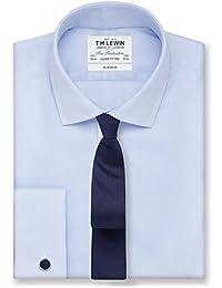 a786536cd56858 T.M.Lewin Men s Non-Iron Super Fitted Blue Stripe Shirt