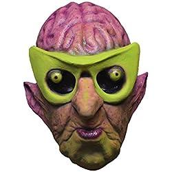 Générique mahal716–Máscara látex adulto Atomic Alien brainac–Daniel Horne–Talla única
