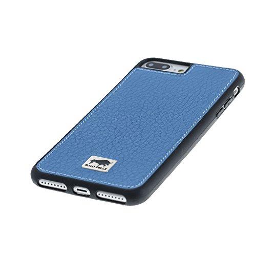 """Solo Pelle Iphone 7 Plus / 8 Plus Plus Case Lederhülle Ledertasche Backcover """" Flex """" aus echtem Leder in Vintage Braun Floater Blau"""