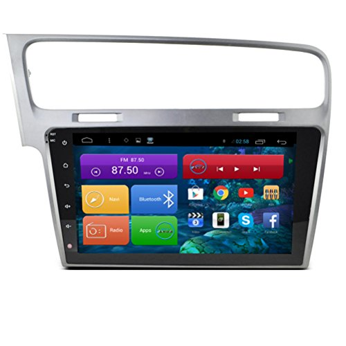 Topnavi [25,7cm dernière Android 6.0EN Dash Navigation GPS de voiture] pour VW Golf 7N'limitée de voiture PC navigateur Tête unité double DIN Autoradio SAT Navi HD DVD CD audio player avec Durée de vie carte de l'écran tactile Full OBD2Cam-in