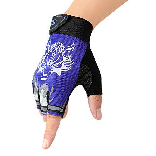 Kinder Fingerlose Handschuhe Sport Halbfinger Handschuhe Fäustlinge Fahrradhandschuhe,ultradünn,atmungsaktiv,rutschfeste für Angeln, Radfahren, Jagd und Reiten Motorrad Fitness für Mädchen und Jungen