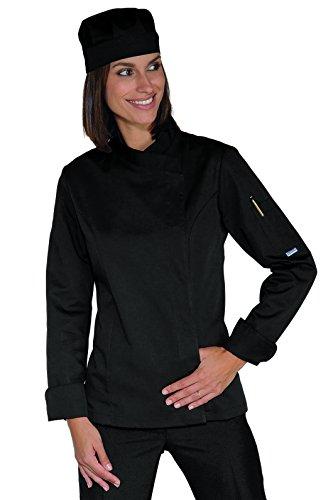 Isacco Lady Snaps Jacke, Schwarz, XL, 65% Polyester, 35% Baumwolle, langärmlig Xl Workwear-snap
