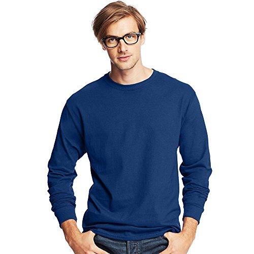 Hanes Mens Tagless ComfortSoft Long-Sleeve T-Shirt Deep Royal
