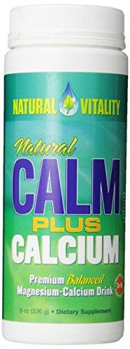 Peter Gillham's Nat Vitality Boisson pour sportifs Natural CALM Plus Calcium - Pour un équilibre optimal de calcium et magnésium - 236 ml