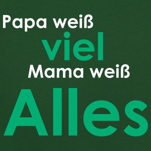 Papa weiß viel, Mama weiß alles ! - Herren T-Shirt - 13 Farben Flaschengrün