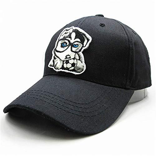 MAOZIJIE Fußball Hund Stickerei Baumwolle Casquette Baseballmütze Hip-Hop-Kappe Einstellbare Hysteresenhüte Für Kinder Männer Frauen