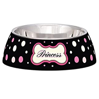 Polkadot Milano Bowl For Dogs And Cats - Veterinarian Recommended Stainless Steel Feeding Bowl - The Rubber Base Helps… 14