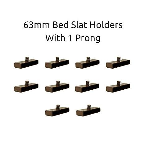 63mm Bett federleistenhalter Kappen für Holz Frames 1Zinken (10Stück)